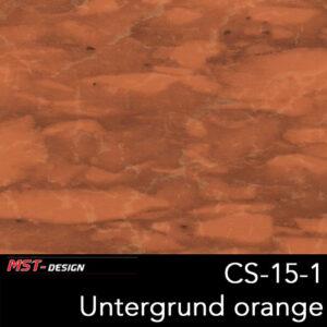 MST-Design, Wassertransferdruck, Folie CS-15-1, Untergrund orange
