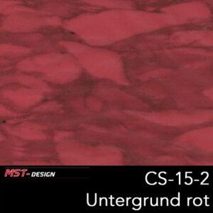 MST-Design, Wassertransferdruck, Folie CS-15-2, Untergrund rot