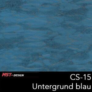 MST-Design, Wassertransferdruck, Folie CS-15, Untergrund blau