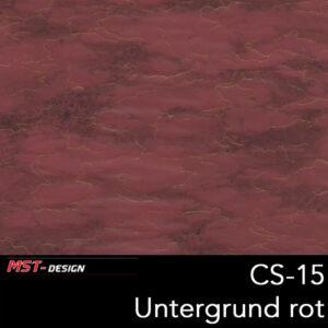 MST-Design, Wassertransferdruck, Folie CS-15, Untergrund rot