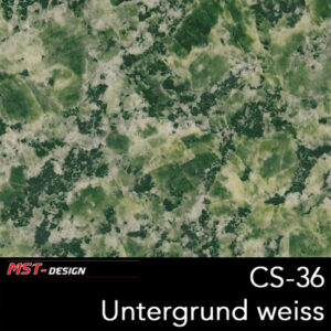 MST-Design, Wassertransferdruck, Folie CS-36, Untergrund weiß