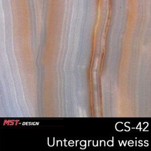 MST-Design, Wassertransferdruck, Folie CS-42, Untergrund weiß