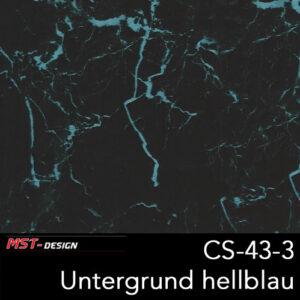 MST-Design, Wassertransferdruck, Folie CS-43-3, Untergrund hellblau