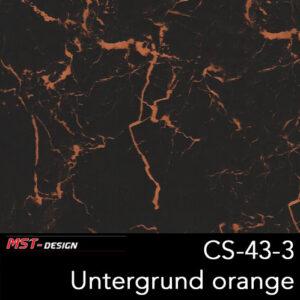 MST-Design, Wassertransferdruck, Folie CS-43-3, Untergrund orange
