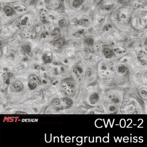 MST-Design, Wassertransferdruck, Folie CW-02-2, Untergrund weiß