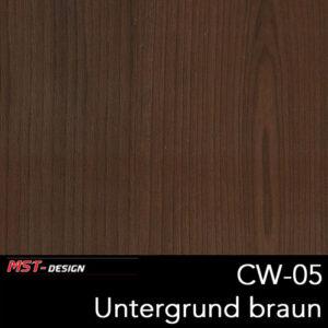 MST-Design, Wassertransferdruck, Folie CW-05, Untergrund braun
