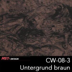 MST-Design, Wassertransferdruck, Folie CW-08-3, Untergrund braun