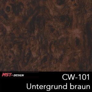 MST-Design, Wassertransferdruck, Folie CW-101, Untergrund braun