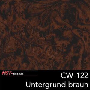 MST-Design, Wassertransferdruck, Folie CW-122, Untergrund braun