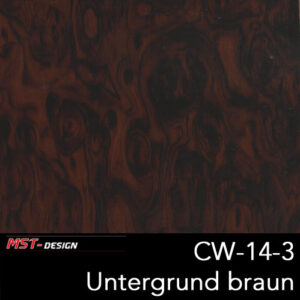 MST-Design, Wassertransferdruck, Folie CW-14-3, Untergrund braun