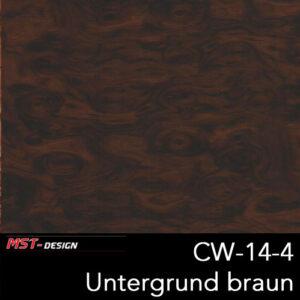 MST-Design, Wassertransferdruck, Folie CW-14-4, Untergrund braun
