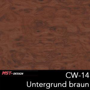 MST-Design, Wassertransferdruck, Folie CW-14, Untergrund braun