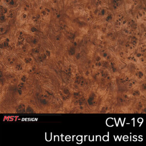 MST-Design, Wassertransferdruck, Folie CW-19, Untergrund weiß