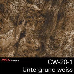 MST-Design, Wassertransferdruck, Folie CW-20-1, Untergrund weiß