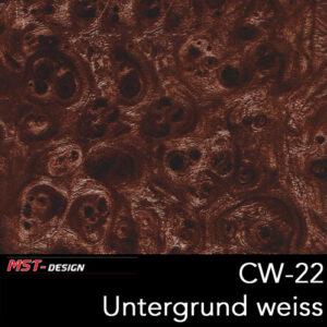 MST-Design, Wassertransferdruck, Folie CW-22, Untergrund weiß