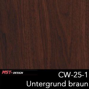 MST-Design, Wassertransferdruck, Folie CW-25-1, Untergrund braun