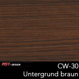 MST-Design, Wassertransferdruck, Folie CW-30, Untergrund braun