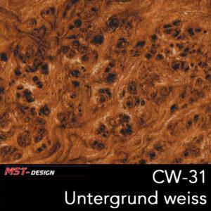 MST-Design, Wassertransferdruck, Folie CW-31, Untergrund weiß