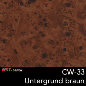 MST-Design, Wassertransferdruck, Folie CW-33, Untergrund braun