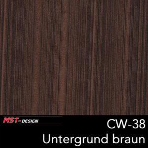 MST-Design, Wassertransferdruck, Folie CW-38, Untergrund braun