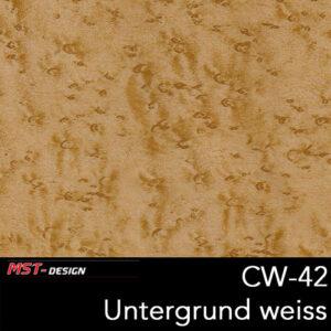 MST-Design, Wassertransferdruck, Folie CW-42, Untergrund weiß