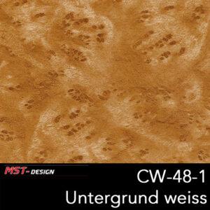 MST-Design, Wassertransferdruck, Folie CW-48-1, Untergrund weiß