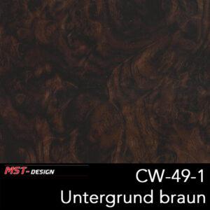 MST-Design, Wassertransferdruck, Folie CW-49-1, Untergrund braun