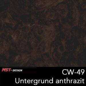 MST-Design, Wassertransferdruck, Folie CW-49, Untergrund anthrazit
