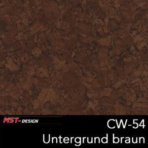 MST-Design, Wassertransferdruck, Folie CW-54, Untergrund braun