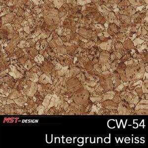 MST-Design, Wassertransferdruck, Folie CW-54, Untergrund weiß