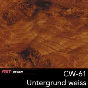 MST-Design, Wassertransferdruck, Folie CW-61, Untergrund weiß