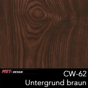 MST-Design, Wassertransferdruck, Folie CW-62, Untergrund braun
