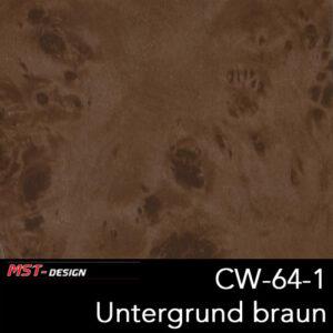 MST-Design, Wassertransferdruck, Folie CW-64-1, Untergrund braun
