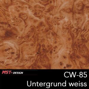 MST-Design, Wassertransferdruck, Folie CW-85, Untergrund weiß