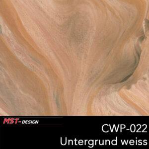 MST-Design, Wassertransferdruck, Folie CWP-022, Untergrund weiß