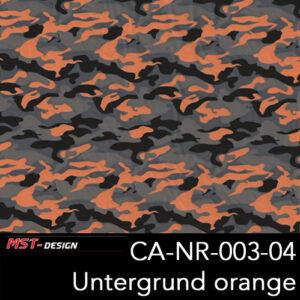 MST-Design, Wassertransferdruck, Army Style, Folie CA-NR-003-04, Untergrund orange