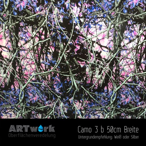ARTwork, Wassertransferdruck, Folie Camouflage 3 b, 50cm Breite