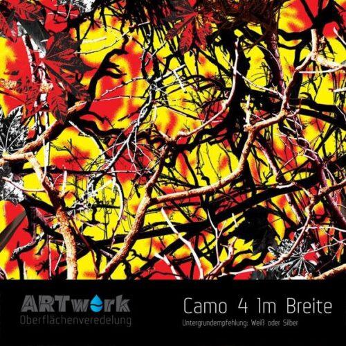 ARTwork, Wassertransferdruck, Folie Camouflage 4, 1m Breite
