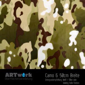 ARTwork, Wassertransferdruck, Folie Camouflage 6, 50cm Breite