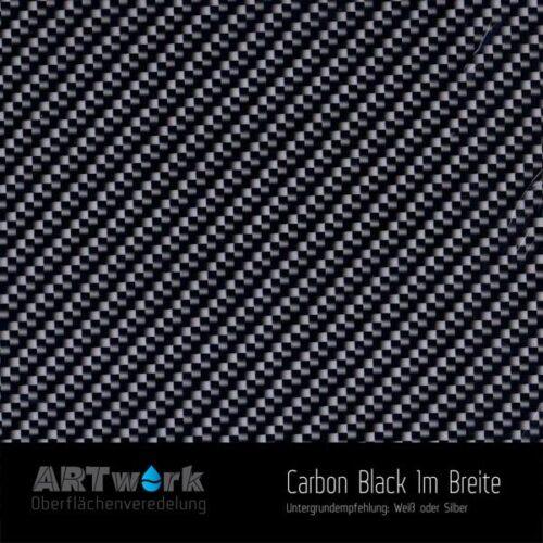 ARTwork, Wassertransferdruck, Folie Carbon Black, 1m Breite