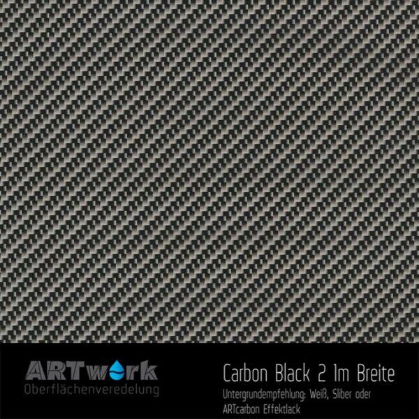 ARTwork, Wassertransferdruck, Folie Carbon Black 2, 1m Breite