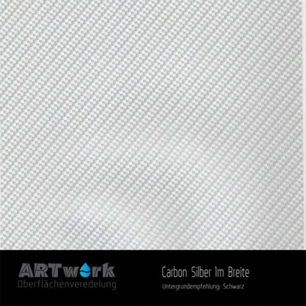 ARTwork, Wassertransferdruck, Folie Carbon Silber, 1m Breite