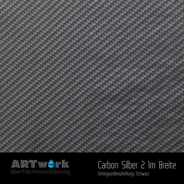 ARTwork, Wassertransferdruck, Folie Carbon Silber 2, 1m Breite