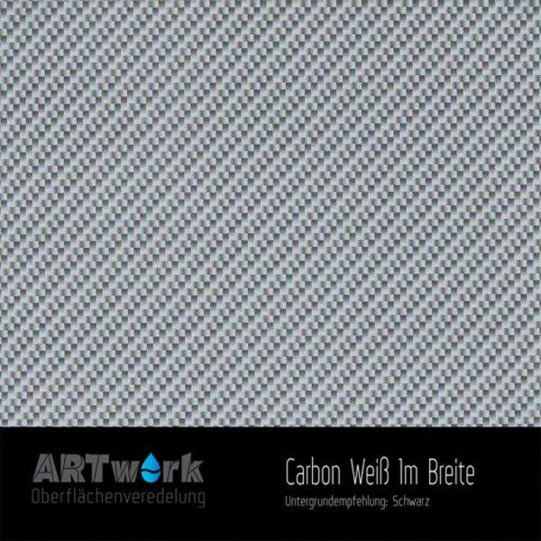 ARTwork, Wassertransferdruck, Folie Carbon Weiß, 1m Breite