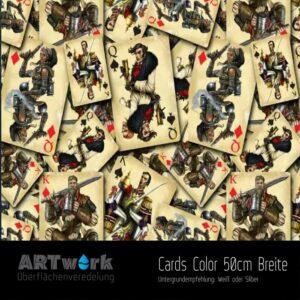 ARTwork, Wassertransferdruck, Folie Cards Color, 50cm Breite