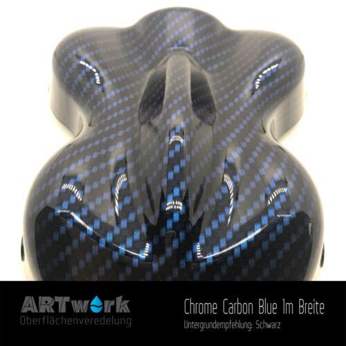 ARTwork, Wassertransferdruck, Folie Chrome Carbon Blue, 1m Breite