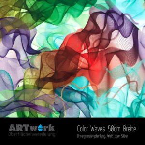 ARTwork, Wassertransferdruck, Folie Color Waves, 50cm Breite