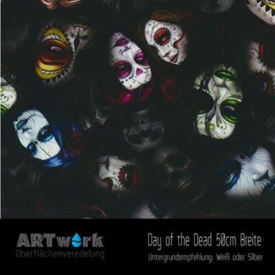 ARTwork, Wassertransferdruck, Folie Day of the Dead, 50cm Breite