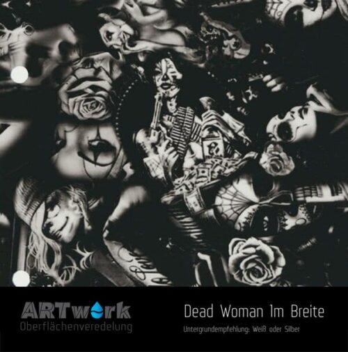 ARTwork, Wassertransferdruck, Folie Dead Woman, 1m Breite