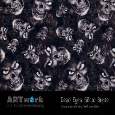 ARTwork, Wassertransferdruck, Folie Dead Eyes, 50cm Breite